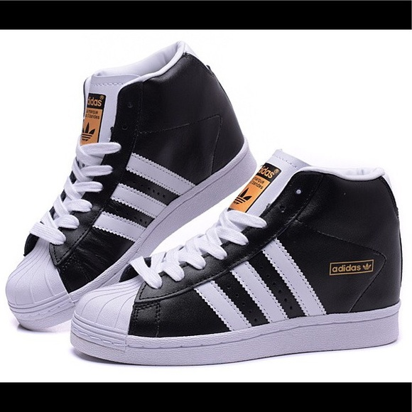 adidas superstar black high